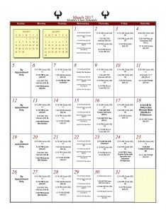 Phoenix Athletica March Schedule