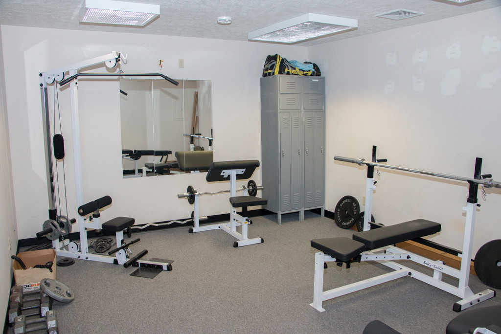 A weight room at the fitness club Phoenix Athletica in Pocono Summit, PA